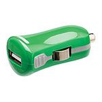 Mini chargeur USB 2.1A sur prise allume-cigare (vert)