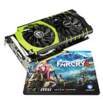 MSI GeForce GTX 960 GAMING 100ME + Tapis de souris gaming Farcry 4