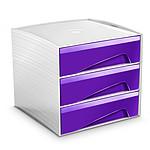 CEP MyCube 3 grands tiroirs violet
