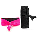 Griffin Ribbon Wristband Noir/Rose