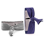 Griffin Ribbon Wristband Argent/Violet