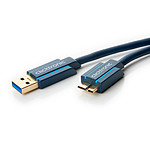 Clicktronic Cable Micro USB 3.0 Tipo AB (Macho/Macho) - 1 m