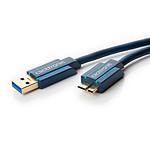 Clicktronic Cable Micro USB 3.0 Tipo AB (Macho/Macho) - 1,8 m