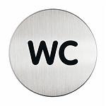 DURABLE Pictogramme rond symbole WC diamètre 83 mm