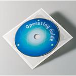 DURABLE Sachet de 10 Porte-étiquettes POCKETFIX adhésifs CD/DVD avec rabat