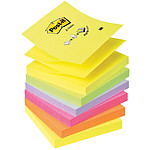 Post-it Bloc Z-notes 100 feuillets 76 x 76 mm Néon assortis x 6