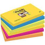 "Post-it Bloque  ""Super Sticky"" 76 x 127 mm Rio x 6"