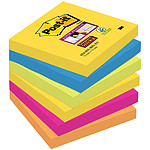 "Post-it Bloc ""Super Sticky"" 76 x 76 mm Rio x 6"