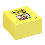 Post-it Bloc Super Sticky cube 350 feuillets 76 x 76 mm Jaune