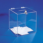 Torenco urne transparente 25 x 25 x 25 cm