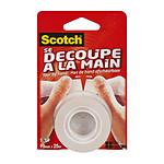 """Scotch Ruban adhésif """"se découpe à la main"""" 19 mm x 25 m Transparent"""