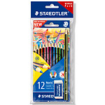 Staedtler Lot de 12 crayons noris colour + 1 Noris eco + 1 gomme