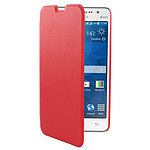 Swiss Charger Etui Folio Slim Rouge pour Samsung Galaxy Grand Prime