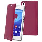 Made for Xperia Etui Slim Folio Luxe Fuchsia Sony Xperia M4 Aqua / M4 Aqua Dual