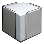 Bloque de cubo transparente con papel