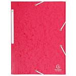 Chemise à élastiques 3 rabats en carte 375g Rouge