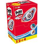 Pritt Eco pack 12 correcteurs Compact Roller + 4 offerts