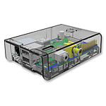 Multicomp boitier pour Raspberry Pi Model A / Model B (transparent)