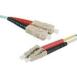Câble fibre optique multimode OM4 50/125 SC/LC (15 mètres)