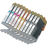 Megapack cartouches compatibles Canon CLI-551 XL (2 x cyan, 2 x magenta, 2 x jaune et 4 x noir)
