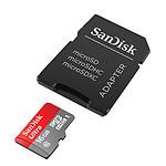 SanDisk Ultra microSDHC UHS-I U1 16 Go + Adaptateur SD