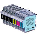 Megapack cartouches compatible Brother LC-980 et LC-1100 (Cyan, magenta, jaune et noir)