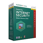 Kaspersky Internet Security 2016 - Mise à jour - Licence  3 postes 1 an