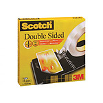 Scotch 666 cinta Adhesivo double-caras 19 mm x 32.9 m Transparente