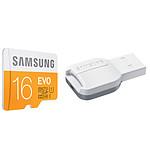Samsung EVO microSDHC 16 Go + adaptateur USB