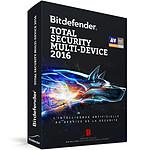 Bitdefender Total Security Multi-Device 2016 - Licence 2 Ans 5 Utilisateurs