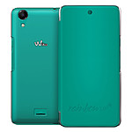 Wiko Etui Cover Back Folio Bleen Wiko Rainbow UP 4G