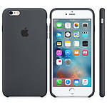 Apple Coque en silicone Gris anthracite Apple iPhone 6s Plus