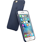 Apple Coque en cuir Bleu nuit Apple iPhone 6s