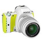 Pentax K-S1 Blanc anis + Objectif DAL 18-55 mm