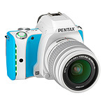 Pentax K-S1 Blanc turquoise + Objectif DAL 18-55 mm
