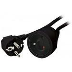 Rallonge électrique noire en 3 x 1.5 mm² (5 mètres)