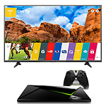 LG 49UF680V + NVIDIA SHIELD Android TV 16 Go