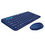 Logitech Pack mobilité Bluetooth Souris M535 + Clavier K380 (Bleu)