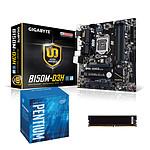 Kit Upgrade PC Pentium G4400 Gigabyte GA-B150M-D3H 4 Go