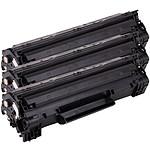 Multipack toners compatibles HP CF283A / Canon CRG-737 (Noir)