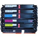 Multipack toners compatibles HP 131A / Canon 731 (cyan, magenta, jaune et noir)