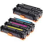 Multipack toners compatibles Canon EP71Xet HP CB54XA (Noir, cyan, magenta et jaune)