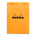 Rhodia Bloc N°13 Orange agrafé en-tête 10.5 x 14.8 cm petits carreaux 5 x 5 mm 80 pages