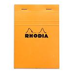 Rhodia Block N°13 Cabezal grapado naranja 10,5 x 14,8 cm cuadrados pequeños 5 x 5 mm 80 páginas