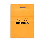 Rhodia Block N°10 Cabezal grapado naranja 5.2 x 7.5 cm cuadrados pequeños 5 x 5 mm 80 páginas