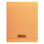 Calligraphe 8000 Polypro Cahier 96 pages 17 x 22 cm seyes grands carreaux Orange