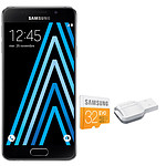 Samsung Galaxy A3 2016 Noir + microSDHC 32 Go
