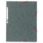 Exacompta Chemises 3 rabats élastiques 400g Gris x 25