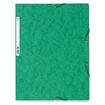 Exacompta Chemises 3 rabats élastiques 400g Vert x 25