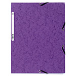 Exacompta Chemises 3 rabats élastiques 400g Violet x 25